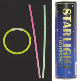Světlo chemické - náramek 5x200mm 65ks různé barvy