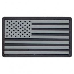 Nášivka vlajka USA plast ČERNÁ/ŠEDÁ