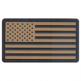 Nášivka vlajka USA plast ČERNÁ/KHAKI