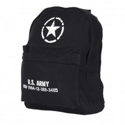 Batoh dětský U.S. ARMY plátěný ČERNÝ