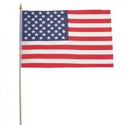 Vlajka USA dřevěná tyčka 30 x 45cm