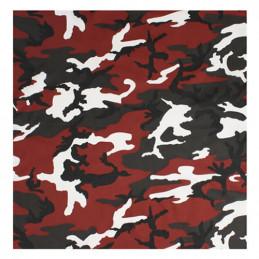 Šátek 55 x 55 cm ČERVENÁ RED CAMO