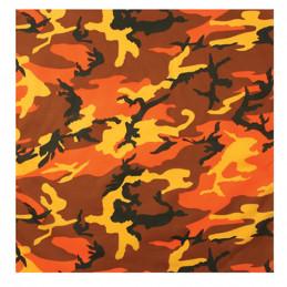 Šátek 55 x 55 cm SAVAGE ORANGE CAMO