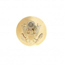 Odznak US ARMY čepicový kulatý ZLATÝ